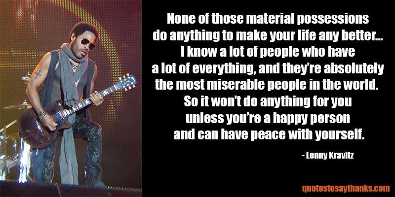 Lenny Kravitz Quotes