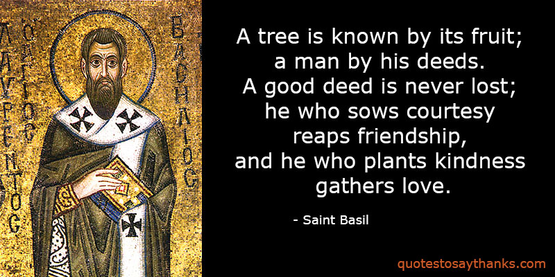 Saint Basil Quotes