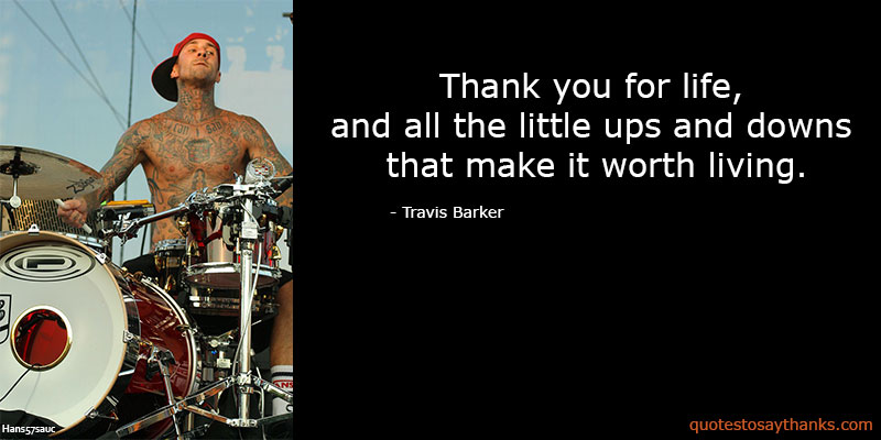 Travis Barker Quotes