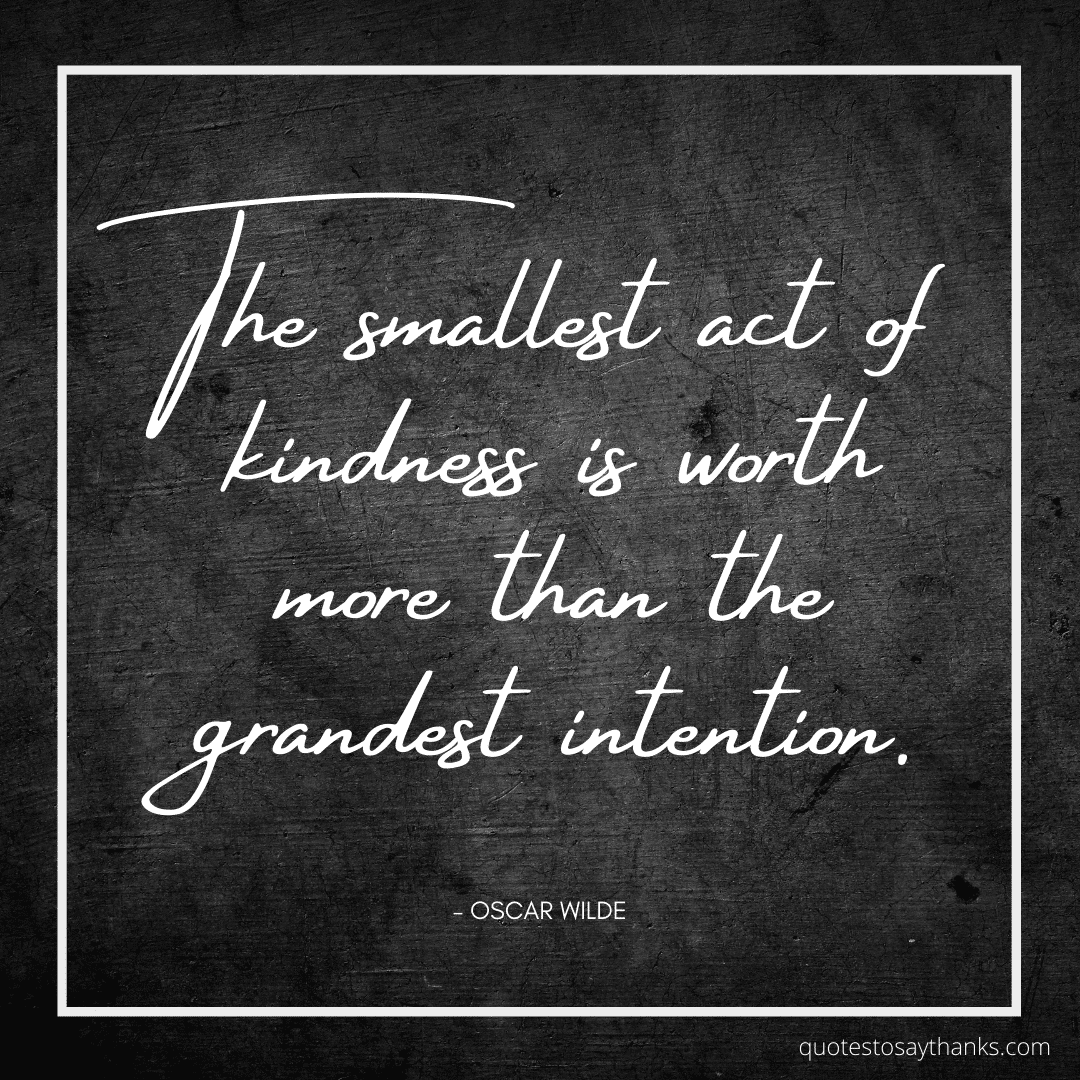 small act of kindness